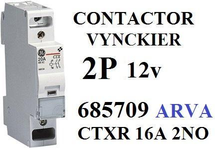ABB Vynckier CTXR Relais 16A 2NO 12V 685709 - , HW LED