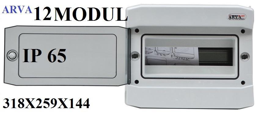 Niko 310 01900.Zekeringkast Luca 8 Modules 1rij Ip65 Grijze Deur