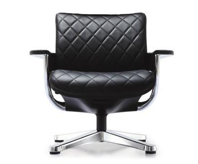 Zetel Met Relaxfunctie.Zetel Met Relax Chrome Arm En Voet Zwart Leder Bureaustoelen