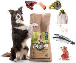 Koudgeperste voeding voor honden met lactobacilli