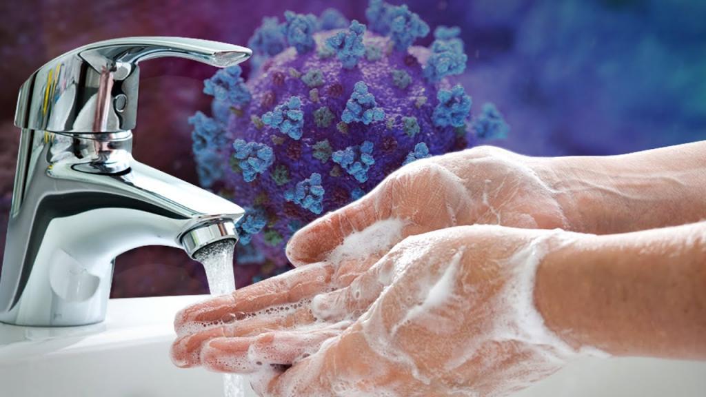 Handen wassen foto voor hygiëne en bewaaradvies